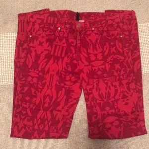 Red Aztec Pants